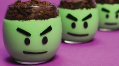 HULK PUDDING CUPS - NERDY NUMMIES