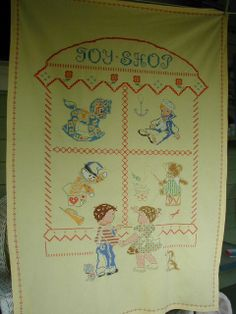 Adorable Vintage Child's Crib Bedspread Hand by ChickenLittleToo