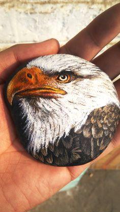 Bald Eagle Art on Rock