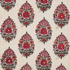 Traditional Indian print - date unknown. Textile Pattern Design, Textile Patterns, Textile Prints, Pattern Art, Print Patterns, Embroidery Patterns, Indian Block Print, Indian Prints, Print Wallpaper