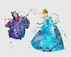 Cinderella watercolours