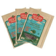 FIELD TRIP All Natural Gluten Free Turkey Jerky, Cracked Pepper, 2.2oz (pack of 3)