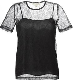 Burberry sheer lace top