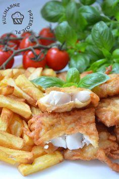 Ryba w cieście piwnym - KulinarnePrzeboje.pl Diet Recipes, Dessert Recipes, Healthy Recipes, Healthy Food, Mouth Watering Food, Polish Recipes, Fish Dishes, Food Design, Seafood