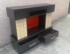 Chimenea MDF Decorativa en Color Chocolate. Mueble indispensable en los lugares de descanso, meditación y relax. Disponible en Negro, Chocolate, Blanco y Vino. Solo de venta en www.natdeco.jimdo.com