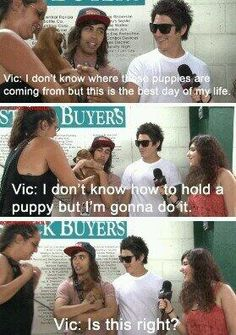 Vic!! Aaaawn this man is soooo cute and adorable and everything!!! I love my husband ;)