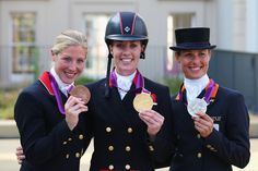 charlotte dujardin wins the gold in the individual dressage whilst team mate laura bechtolsheimer took bronze