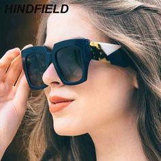 05d1a000f9 Fashion Oversized Sunglasses Women Luxury Square Sunglass Brand Female  Mirror Shades Vintage Big Frame Sun Glasses