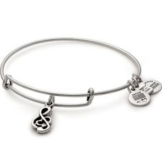 The Sweet Melody Charm Bangle is available in a Rafaelian Gold and a Rafaelian Silver finish. Alex and Ani's Expandable Wire Bracelet allows the the wearer to adjust the Bracelet for a perfect fit. Alex And Ani Bracelets, Bangle Bracelets With Charms, Diamond Bracelets, Bangles, Charm Braclets, Adjustable Bracelet, Silver Diamonds, Fine Jewelry, Men's Jewelry