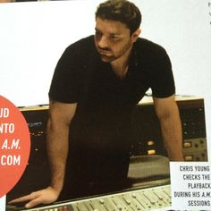 Chris Young in the studio, from CMA Close Up Magazine