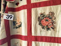 Broderie Perse quilt, names attributed to New Brunswick, NJ