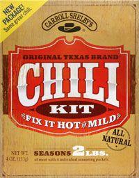 Carroll Shelbys Chili Kit