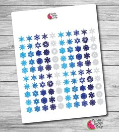 100 Snow flakes Stickers Planner Stickers Erin by SandiaDesignShop