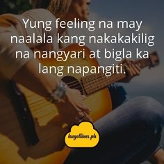 Tagalog Love Quotes - Yung feeling na may naalala kang nakakakilig na nangyari at bigla lang napangiti tagalog love quotes, tagalog love quotes for him, tagalog love quotes for her, kilig quotes tagalog, inspirational tagalog love quotes Love Quotes For Her, Quotes For Him, Love Qutoes, Tagalog Love Quotes, Hugot Lines, Line Love, English Translation, Text Messages, Funny