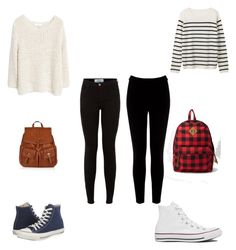"""Two outfits for school"" by mary-mara on Polyvore featuring MANGO, Converse, Accessorize, Warehouse and Forever 21"