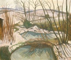 Frozen Ponds By John Nash R.: Category: Art Currency: GBP Price: Retail Price: This is a giclee numbered limited Edition… Landscape Art, Landscape Paintings, Winter Landscape, John Minton, John Nash, Frozen Pond, Art Uk, Winter Scenes, Snow Scenes