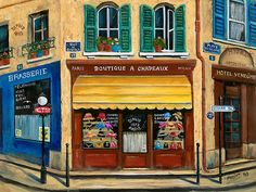 French Hat Shop by Marilyn Dunlap