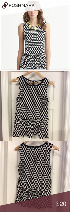 Banana Peplum Top Never worn! Beautiful top! Banana Republic Tops