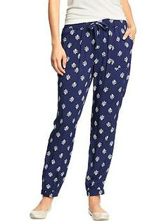 J.Crew women's perfect shirt in onyx dot, drapey pant in polka dot ...
