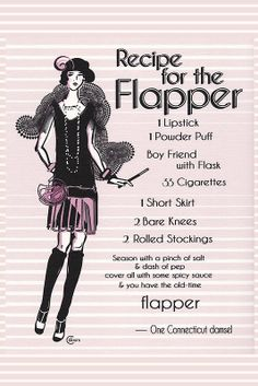 1920s Recipe for Flapper Girl (in Pink) by CecelyBloom