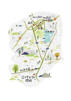 Illustrations for magazine on Behance Taiwan, Maps, Behance, Magazine, Illustrations, Behavior, Magazines, Illustration, Cards