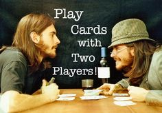 HUGE list of card games for two players! All you need is a deck of cards. These fun 2 player card games are perfect for date night or quality time together. Family Card Games, Fun Card Games, Card Games For Kids, Playing Card Games, Games For Teens, Adult Games, Fun Games, Board Games For Two, Group Games