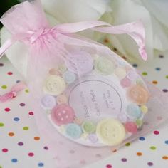 Cute as a Button Place Frame Baby shower favors
