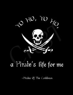 "Disney Pirate's Of The Caribbean Movie Quote Print by Cre8T, $2.00 Hey guys! Check out my Etsy Store, ""Cre8T"", for more Prints & Photography.  -Tia"