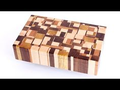 Making Chaotic pattern end grain jewelry boxes - YouTube