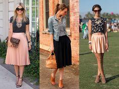 Dúvida da Leitora: como usar saias evasê com quadril largo? - Moda it