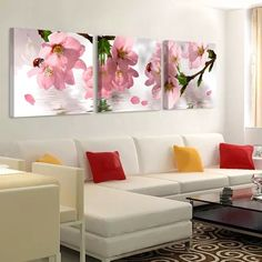Flowers Canvas Painting Wall Art Picture Modern Oil Painting on Canvas Home Decor Paintings for Living Room Wall No Frame Canvas Home, Canvas Wall Art, Canvas Prints, Wall Painting Flowers, Home Decor Paintings, Wall Paintings, Wall Painting Frames, Modern Oil Painting, Living Room Paint
