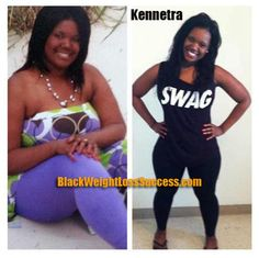 Kennetra lost 53 pounds | Black Weight Loss Success