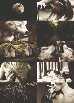 werewolves are loyal, rogue when burned, heart beating for pack and moon