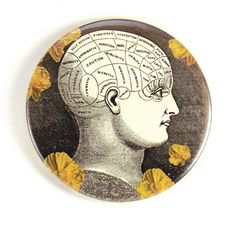 Items similar to 3 inch magnet: Vintage Phrenology Head on Etsy Phrenology Head, Counter Display, Magnets, Graphic Design, Personalized Items, Abstract, Fun, Etsy, Painting