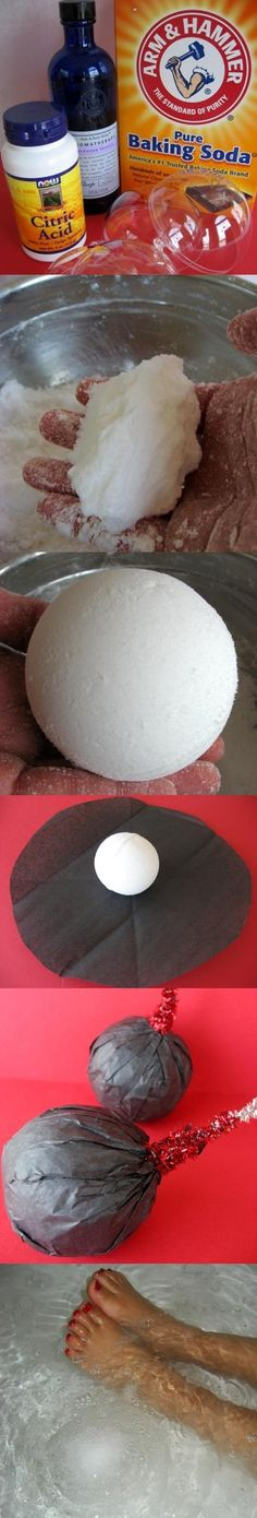 Homemade Fizzy Bath Bomb Recipe