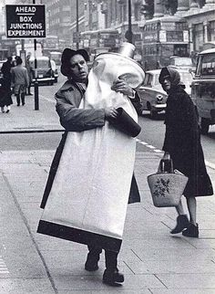 Claes Oldenburg carrying his toothpaste. 1966