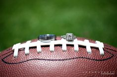 Football Wedding #Photo #Engagement #Announcement picture or add your names and the date, send it to us and we'll make your custom Save the Dates! - nikapaperworks.com
