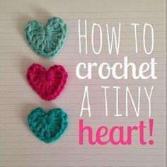 how to crochet a {tiny} heart!