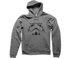 Stormtrooper Face Hoodie - geek storm trooper t shirt star wars nerd tee darth vader tshirt clone jedi droid droids