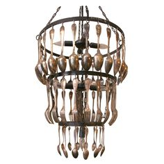 Jose esteves:brocante 3 tier chandelier