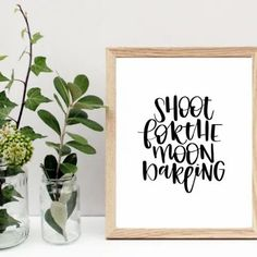 Shoot for the Moon Darling Printable Quote #QuotePrint #inspirationalQuotes #Printablewallart #calligraphyprint #Visionboardprintables #Lifequoteposter #Motivationalart #typographywallsaying #scandinavianwallart