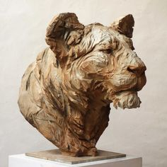 Anatomy Sculpture, Art Sculpture, Animal Sculptures, Photo Animaliere, Stone Carving, Wood Carving, Lion Art, Sand Art, Wooden Art