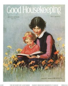 """""""Good Housekeeping"""" - September 1926 - Cover illustration by Jessie Willcox Smith"""