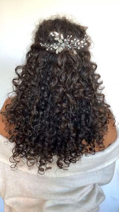 Curly Updo with a Crown Braid - 50 Cute Updos for Natural Hair - The Trending Hairstyle Curly Bridal Hair, Short Curly Hair, Curly Hair Styles, Natural Hair Styles, Wedding Hairstyles For Curly Hair, Long Natural Curls, Updo Curly, Natural Hair Wedding, Face Shape Hairstyles
