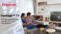 With over On Demand movies and shows, Vantage TV by Frontier delivers the best in-home entertainment. Plus, watching on-the-go is easy thanks to the TV Everywhere app. Home Entertainment, Good Things, Entertaining, App, Best Deals, Movies, Furniture, Home Decor, Decoration Home