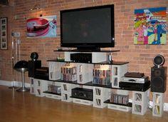 Cinder Block Shelves