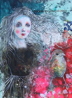 Follow Your Dreams- Original mixed media painting by Maria Pace-Wynters