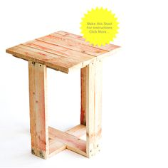 This pallet stool, also from StudioMama, seems like a great entry project for the beginning pallet DIYer. Get the instructions here.
