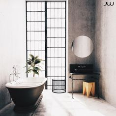 Loft Interior Design, Loft Design, Interior Ideas, Loft Interiors, Big Bathrooms, Industrial Loft, Clawfoot Bathtub, Home Decor, Decoration Home