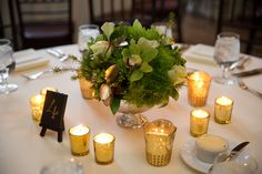 Carly Michelle Photography | #AldenCastle #LongwoodVenues #ModernVintage #Ballroom #Reception #TableNumbers #Centerpieces #Candles